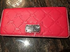 NEW LONGCHAMP PINK LM CUIR  LEATHER CLUTCH WALLET CARD HOLDER BAG