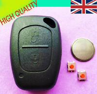 Suitable for Vauxhall Opel Vivaro Movano 2 Button Remote Key Fob Case Repair Kit