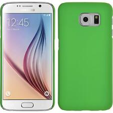 Hardcase Samsung Galaxy S6 rubberized green Cover + protective foils