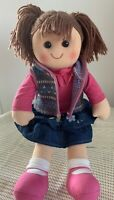 Hopscotch Rag Doll, Rebecca, Girl, Dressed, 35cm Tall, New With Tags