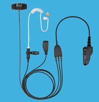 Professional Police 3-Wire Headphone PTT Mic for Kenwood NEXEDGE NX-5300 NX-5400