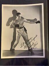 1934 Max Baer Signed Boxing Photo Vintage Dated Autograph JSA COA MINT HOF Auto