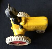 MICKEY MOUSE  VINTAGE VICEROY RUBBER TRACTOR 1930'S