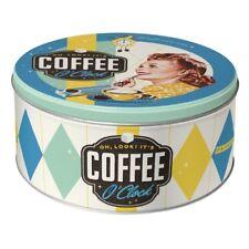 Nostalgic-Art Vorratsdose rund L Coffee O' Clock