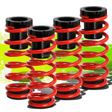"FOR 85-98 VW GOLF/JETTA FRONT+REAR RACING COILOVER 1-3""LOWERING COIL SPRING RED"