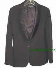 Sz 8 Jessica McClintock Brown Pinstripe Button Front Blazer/Jacket NWT $200