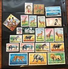 BURUNDI  postage stamps lot of 21 jungle animals and more old