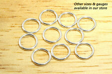5.4mm 22g - 10pcs  935 Argentium Sterling Silver Open Jump Rings