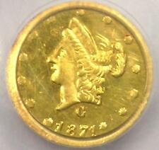 1871 Liberty 50C California Gold Half Dollar Coin BG-1025 - PCGS UNC Detail (MS)