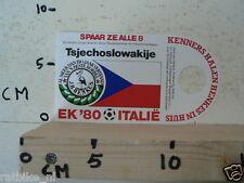 STICKER,DECAL EK 80 ITALIE VOETBAL,SOCCER JH HENKES,TSJECHOSLOWAKIJE