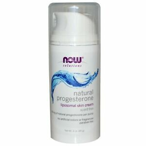 Now Foods, Natural Progesterone, Skin Cream, Unscented, 3 oz **LONG EXPIRY**