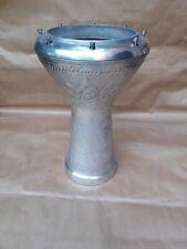 More details for turkish emporium 8 1/2 inch darbuka doumbek hand hammered engraved goblet drum