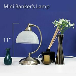 Elegant Designs Mini Modern Bankers Desk Lamp with Touch Dimmer Control Base ...