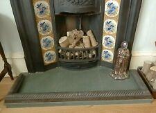 Antique Victorian Cast Iron Fireplace Fender RUMFORD WORKS, 119 x  32cm, Glasgow