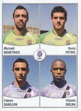 597 MENETRIER - PETRIC - BARILLON - DIELNA FC.ISTRES  STICKER FOOT 2011 PANINI