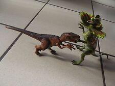 lot dinosaures jurassic Park hasbro kenner raptor et dilophosaure