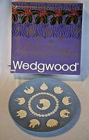 Wedgwood Jasperware Blue Tenth Anniversary Christmas Collectible Plate