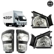 For 04 07 Isuzu NPR 05 06 GMC W-Series Truck Headlights with Signal Left/Right