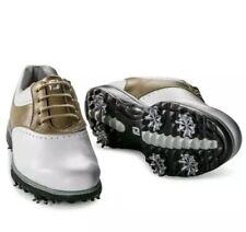 NEW! FootJoy Emerge Women's Golf Shoes - 93914 White/Taupe - 10 Medium