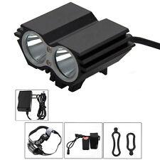 SolarStorm 5000 Lumen 2x CREE T6 LED Bicycle Lights Bike Headlight Cycling Light