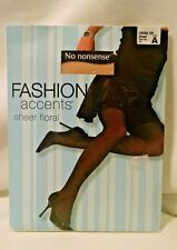 Fashion Accents No Nonsesnse Pantyhose Sheer Floral Almond Size A Control Top