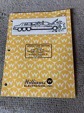 Original Taxi Williams Pinball game Manual