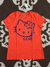 Old Navy NCAA Hello Kitty Univ illinois illini T shirt, L, NWT