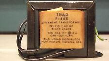 TRANSFORMER AC VOLTS TRIAD MODEL F44X 12.6VOLT CT 2 AMP