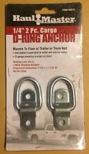 """2 HAUL MASTER 1/4"""" Cargo D-Ring Anchors Tie Down Point For Truck Trailer 60319"""