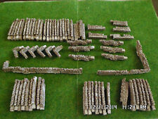 n gauge stone walling train set layout railway scenery 70 sections  brown