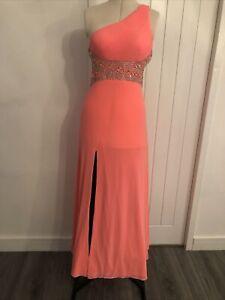 Forever Unique Orange Long Dress Uk12