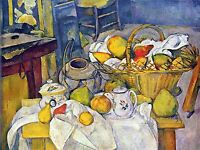 PAUL CEZANNE STILL LIFE WITH FRUIT BASKET OLD MASTER ART PAINTING PRINT 2121OMLV