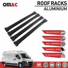 Roof Rack Cross Bars Luggage Carrier Black 4pcs Set for Ram Promaster 2014-2020