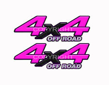 4X4 OFF ROAD Pink Black Decals Truck Graphics Laminated Stickers 2pack KM091ORBX