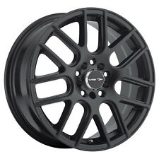 4-NEW Vision 426 Cross 15x6.5 5x100/5x114.3 +38mm Matte Black Wheels Rims