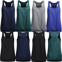 Women Loose Sports Vest Fitness Gym Yoga Workout Tank Tops Singlet Loose Tops VP