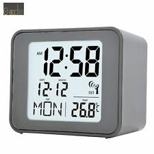 Radio Controlled Alarm Clock Small in Grey Cole Design from ACCTIM