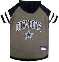 Dallas Cowboys NFL Pets First Officially Licensed Dog Pet Hoodie Tee Shirt XS-L