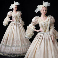 Victorian Dress Maiden Women Royal Ball Gown Costume Gown Reenactment Theater