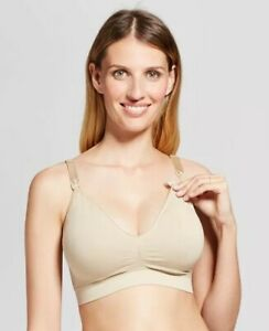 Isabel Maternity Wirefree T-shirt Bra Full Coverage Nude Nursing Medium Mom FS