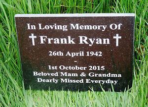 Engraved Natural Granite Memorial Plaque Grave Marker Headstone 30cm x 20cm