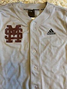 NEW Mississippi State MSU Bulldogs Adidas Men's Baseball ELITE Jersey $70 Large