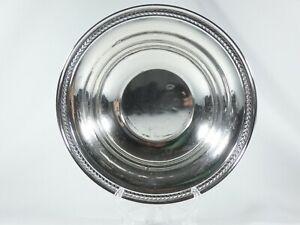 """Antique Vintage American Sterling Silver Large 23cm 9"""" Food Serving Bowl Dish 14"""