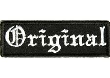 "ORIGINAL in Old English 3"" x 1"" iron on patch (3157) Biker Club"