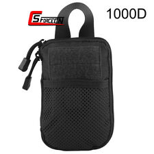 Tactical MOLLE Accessory Bag Passport Wallet Phone Pocket Pouch with Belt Clip
