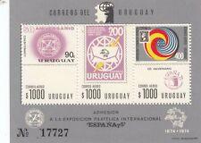 273554 / Uruguay ** MNH Block 1974 UPU