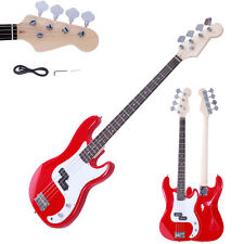 New Professional Basswood Burning Fire Style Red 4-String Electric Bass Guitar