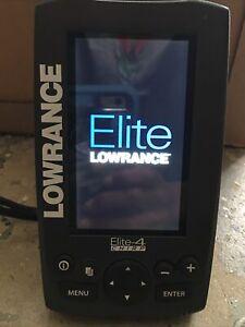 Lowrance Elite-4x HDI Fishfinder with 83/200 Transom Head Mount & Bracket