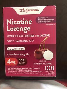 Walgreens Nicotine Lozenge 4 Mg 108 Count Cherry Flavored Compared to Nicorette