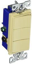 2-Pack Cooper 15 Amp 120V 3-Way 3 Single-Pole Combination Rocker Switch Ivory
